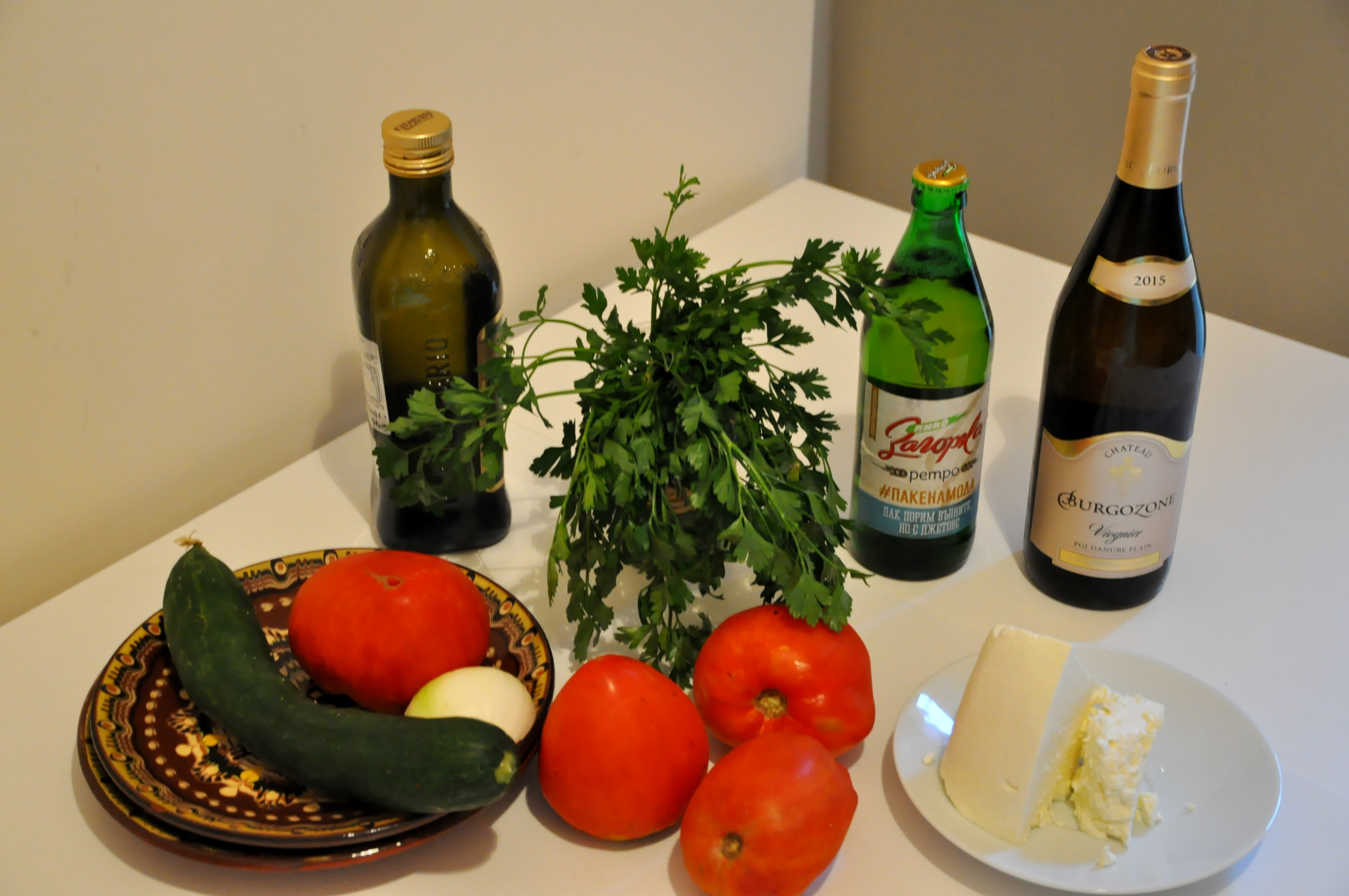Shop the products for shopska salad
