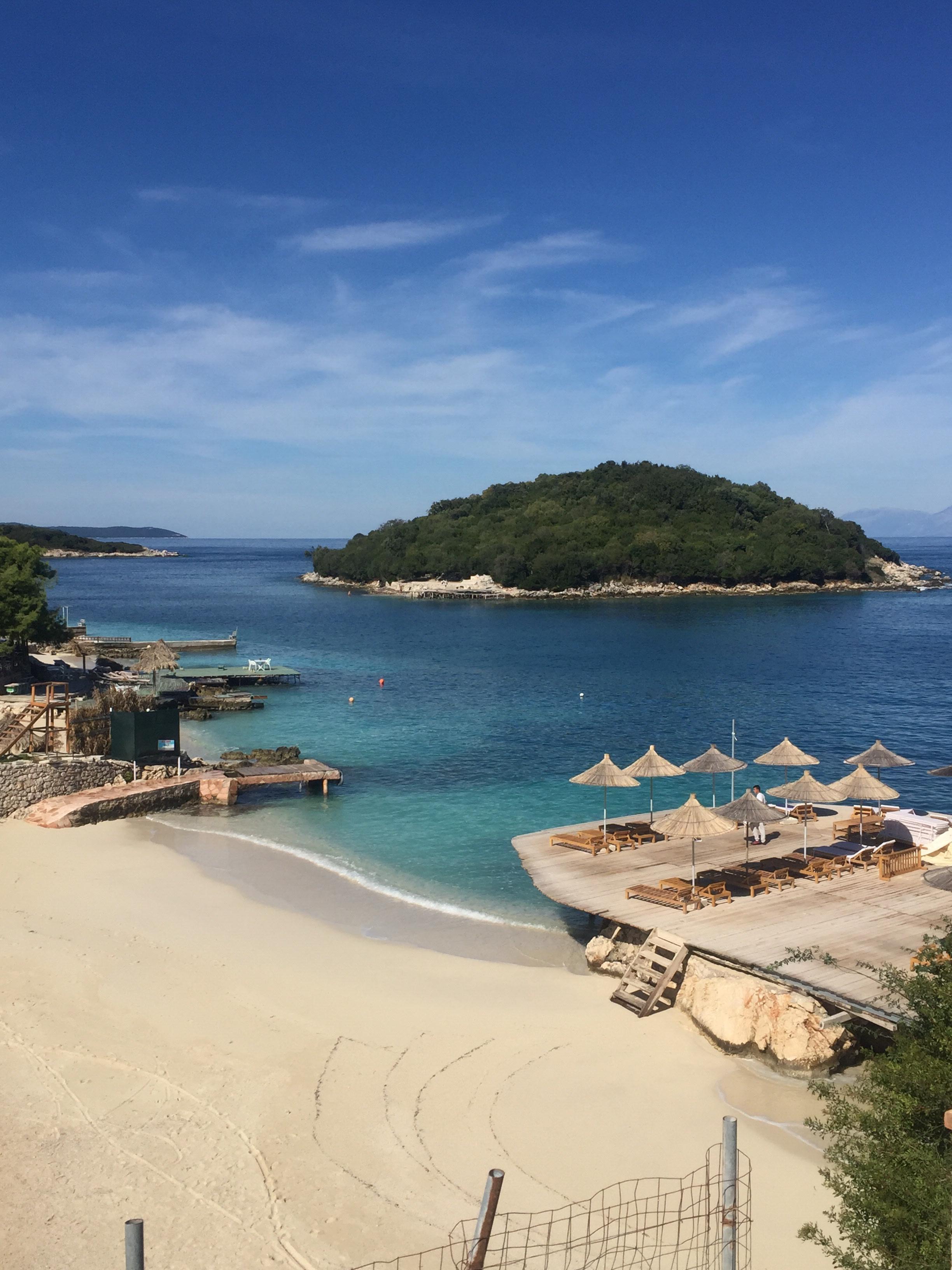 Admire the stunning views of Ksamil Islands