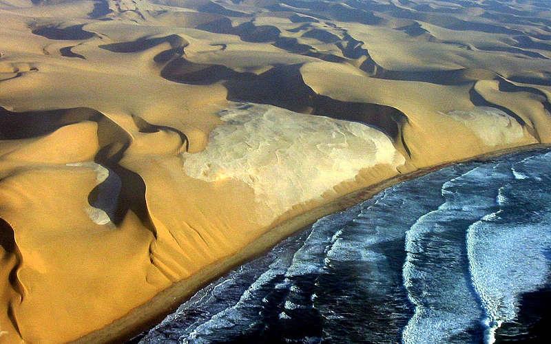 The sea meets the desert