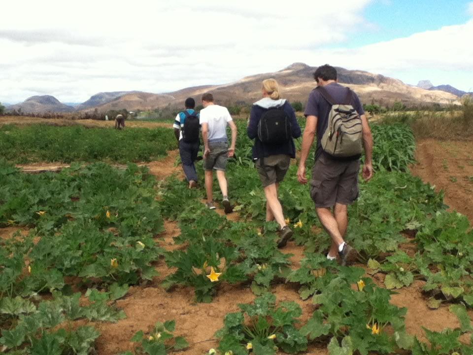 Hike through a farm