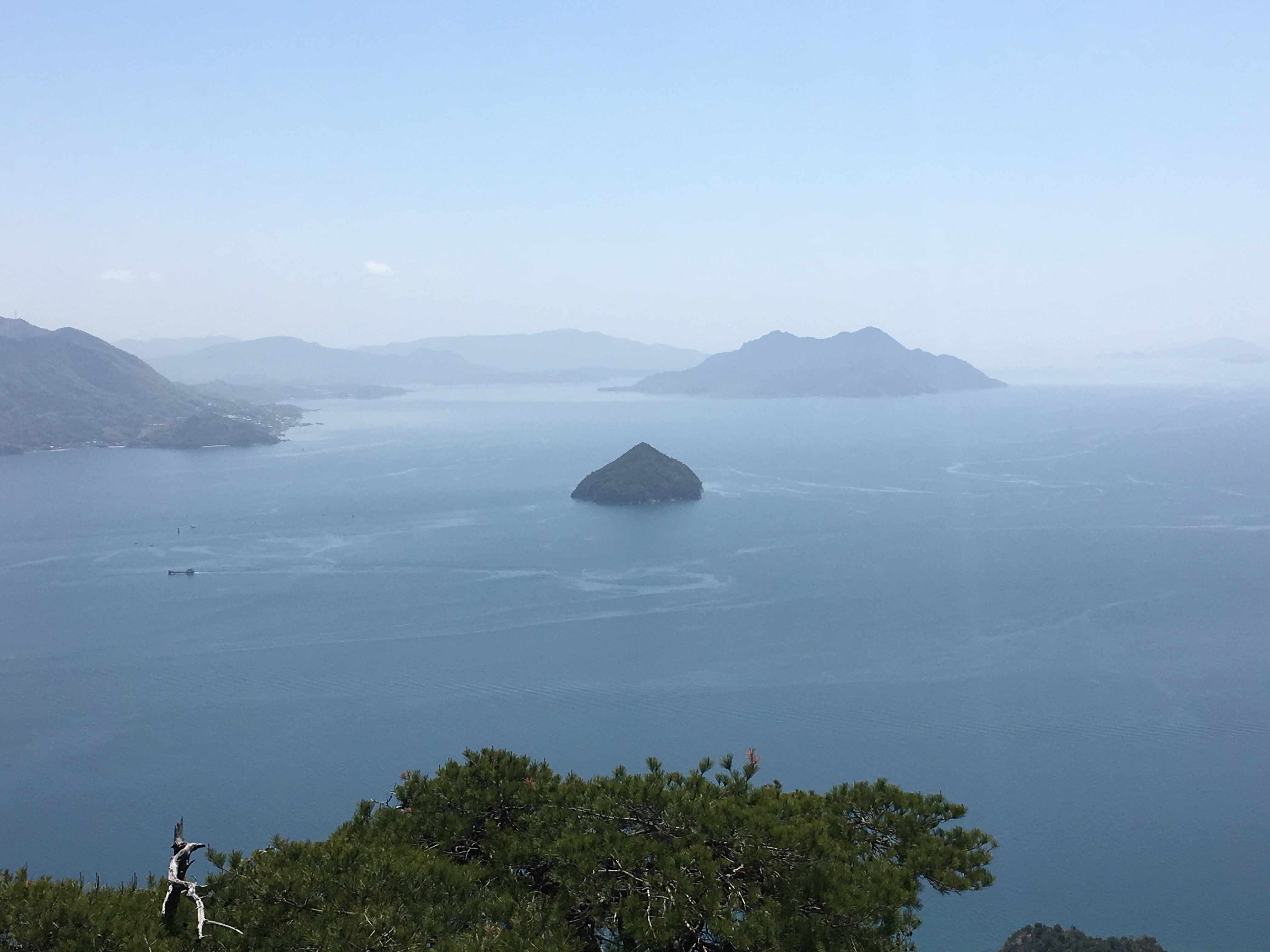 View from the top of Mount Misen