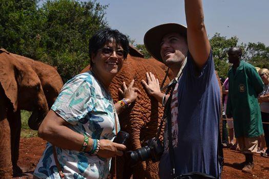 Selfie with elephants