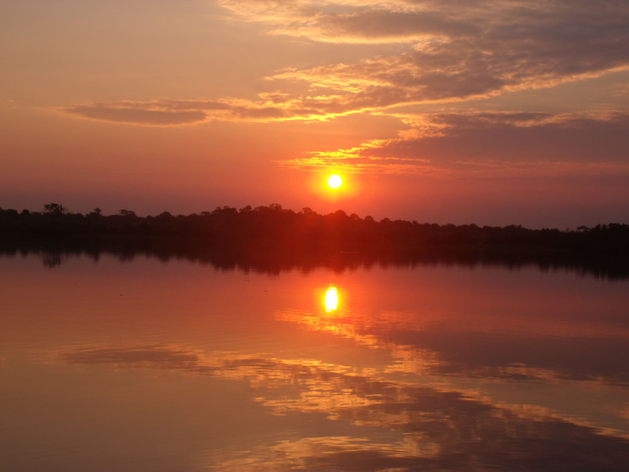 Sunset over Acajatuba River