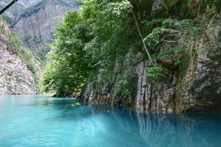 See Shala River flowing in the Albanian Alps