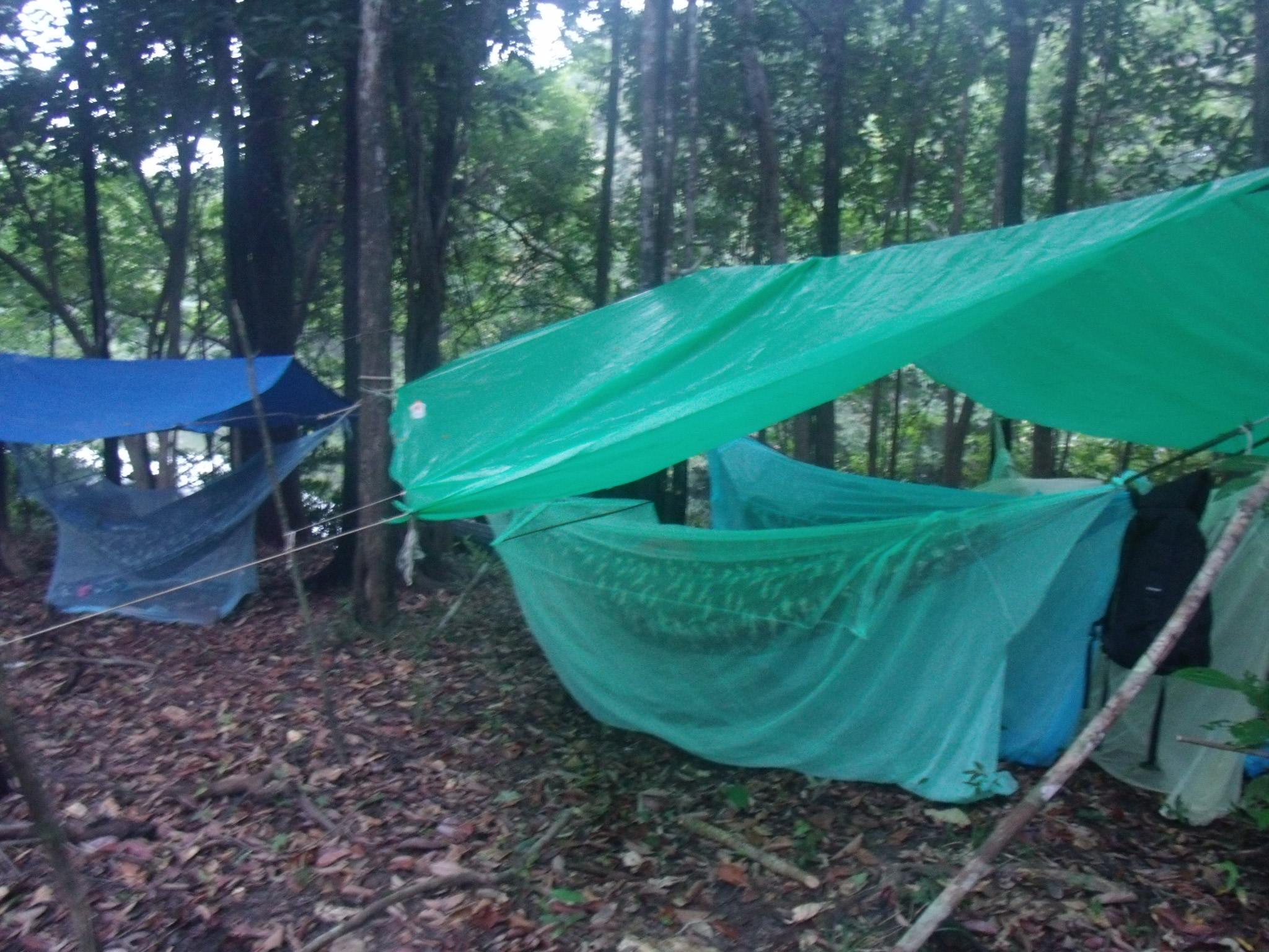 Campsite in Jungle of Amazon
