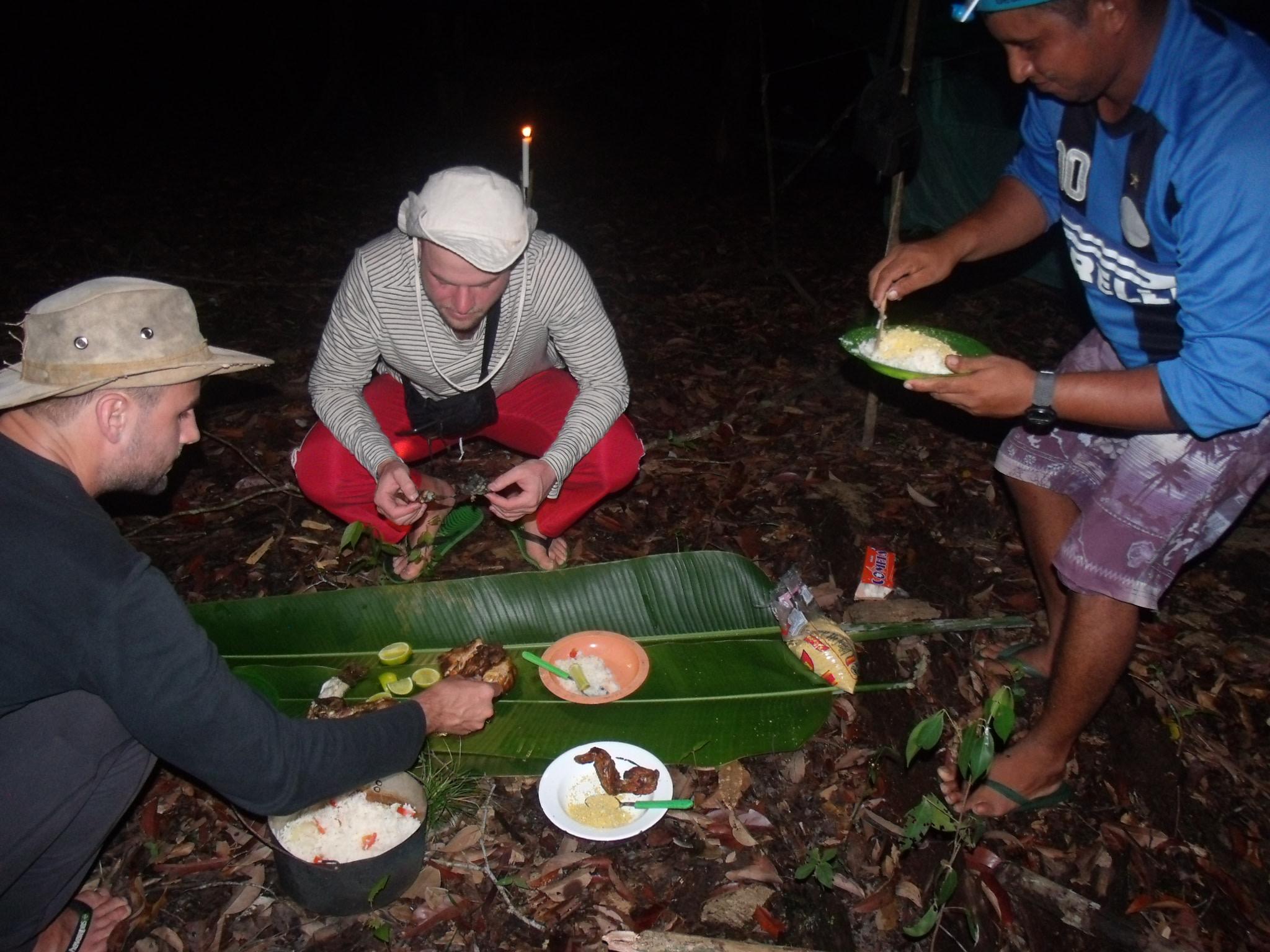 Having dinner in Amazon