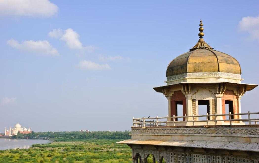 View of the Taj from Agra Fort