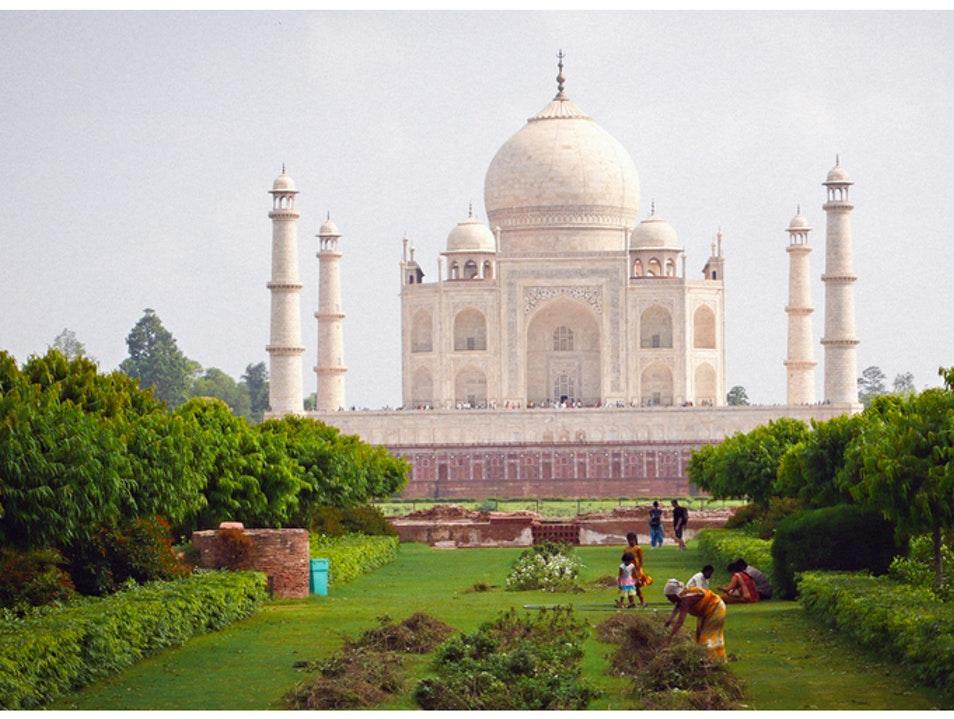 Back of Taj Mahal