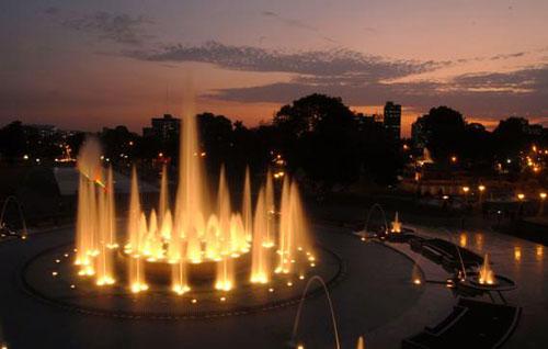 Fountain Light Show In Peru