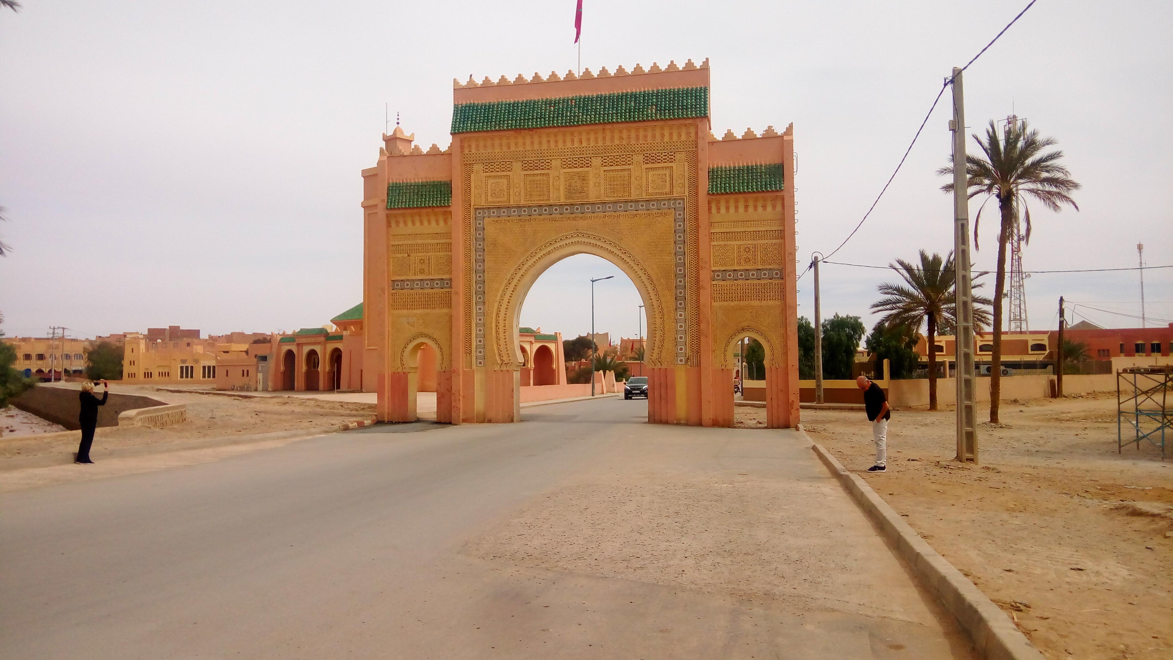The city entrance