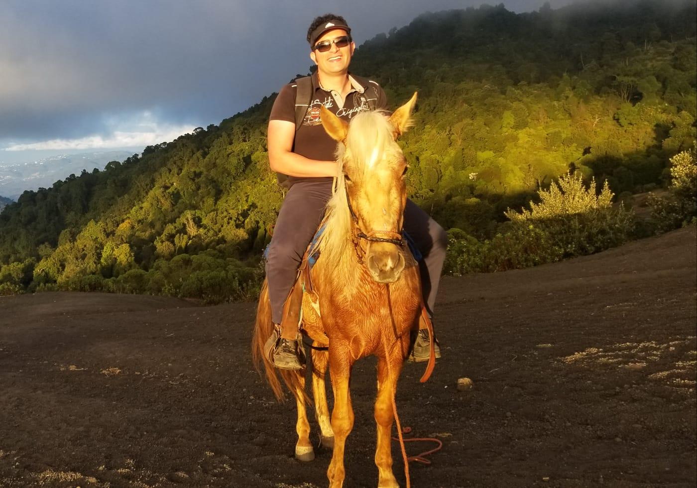 Hourse ride at Volcan de Pacaya