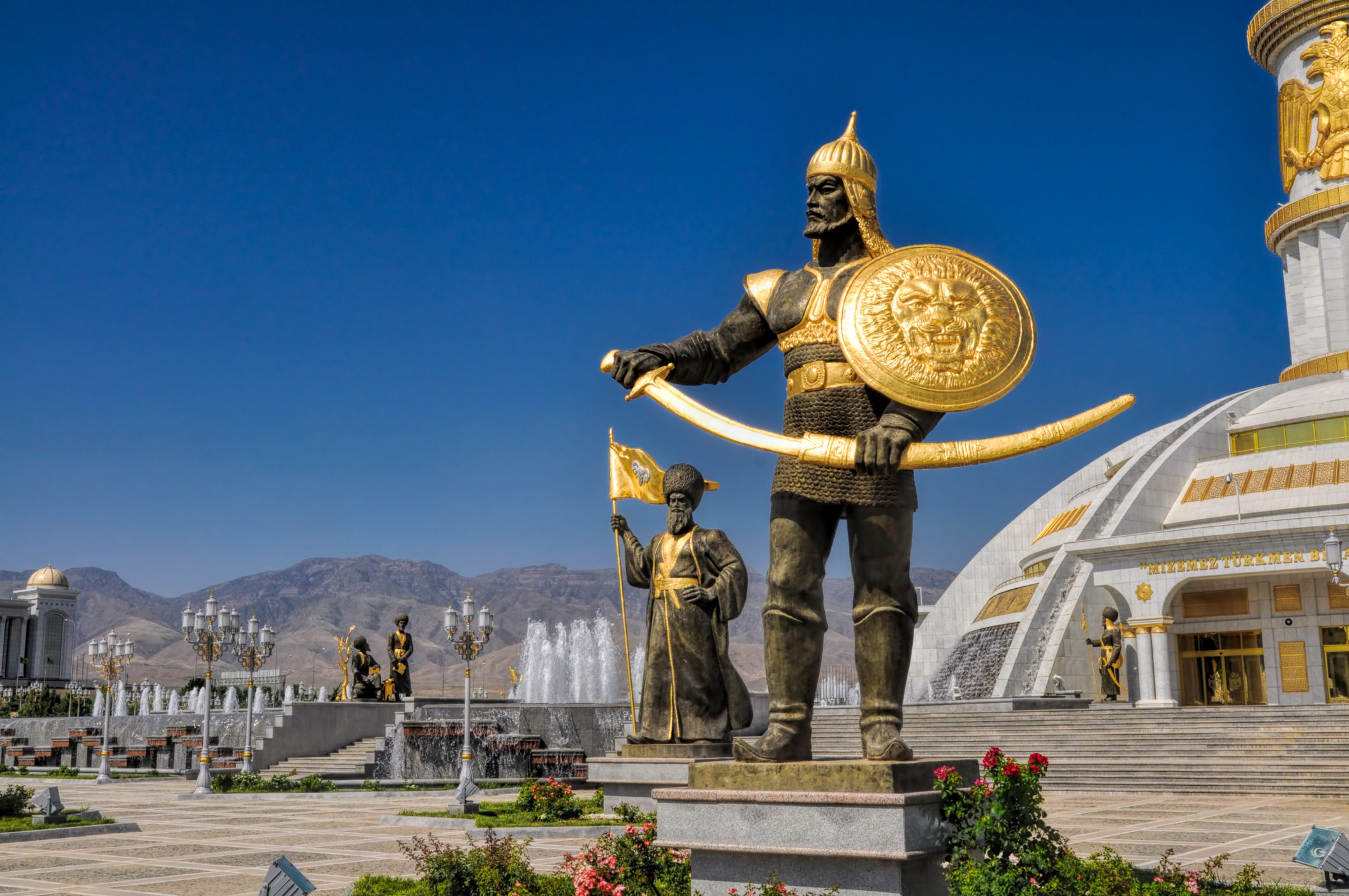 See the Statues of Ashgabat
