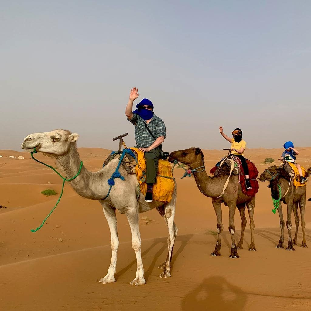 Camel Ride in Morocca