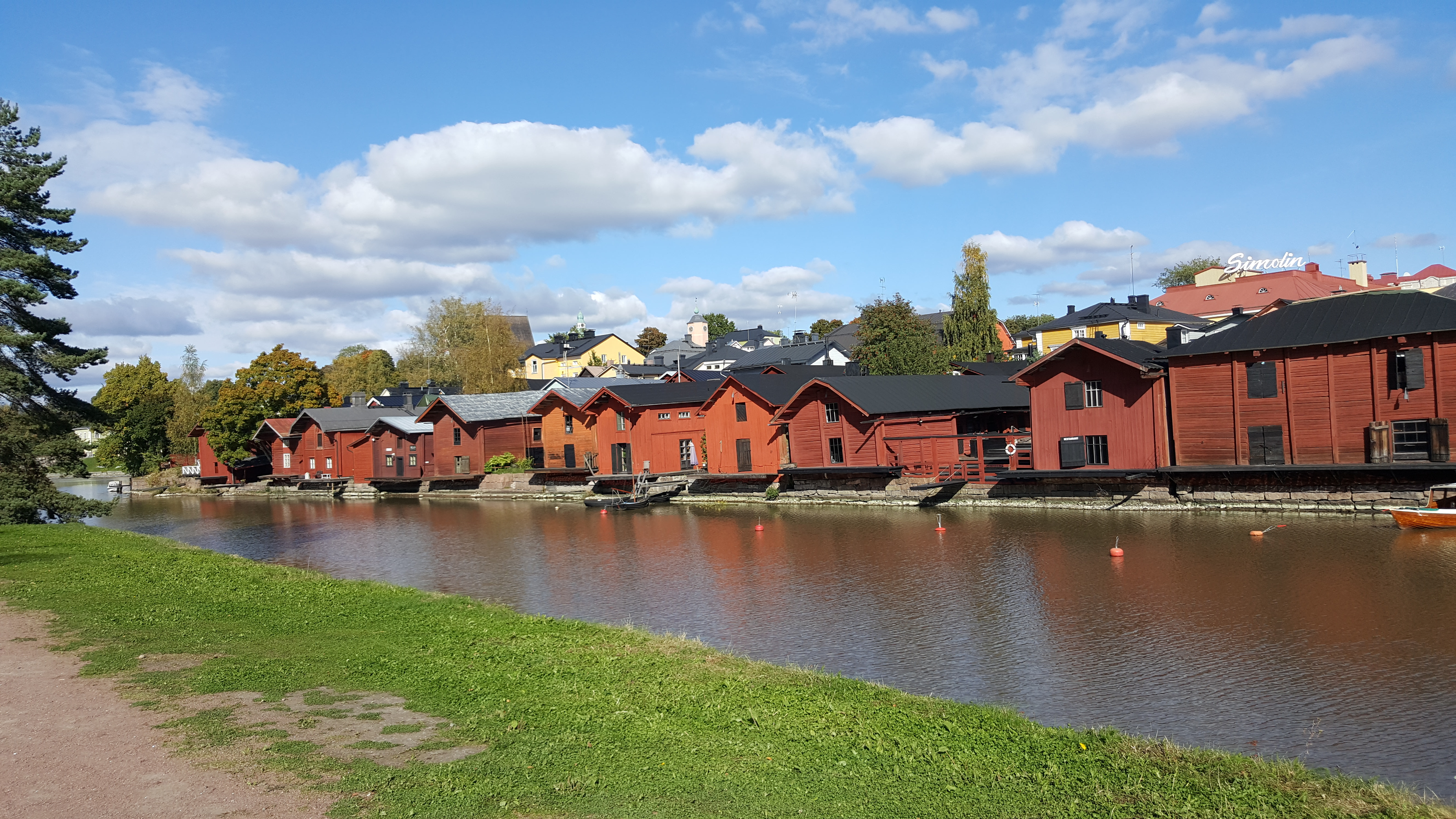 Admire the Storehouses by the river at Porvoo