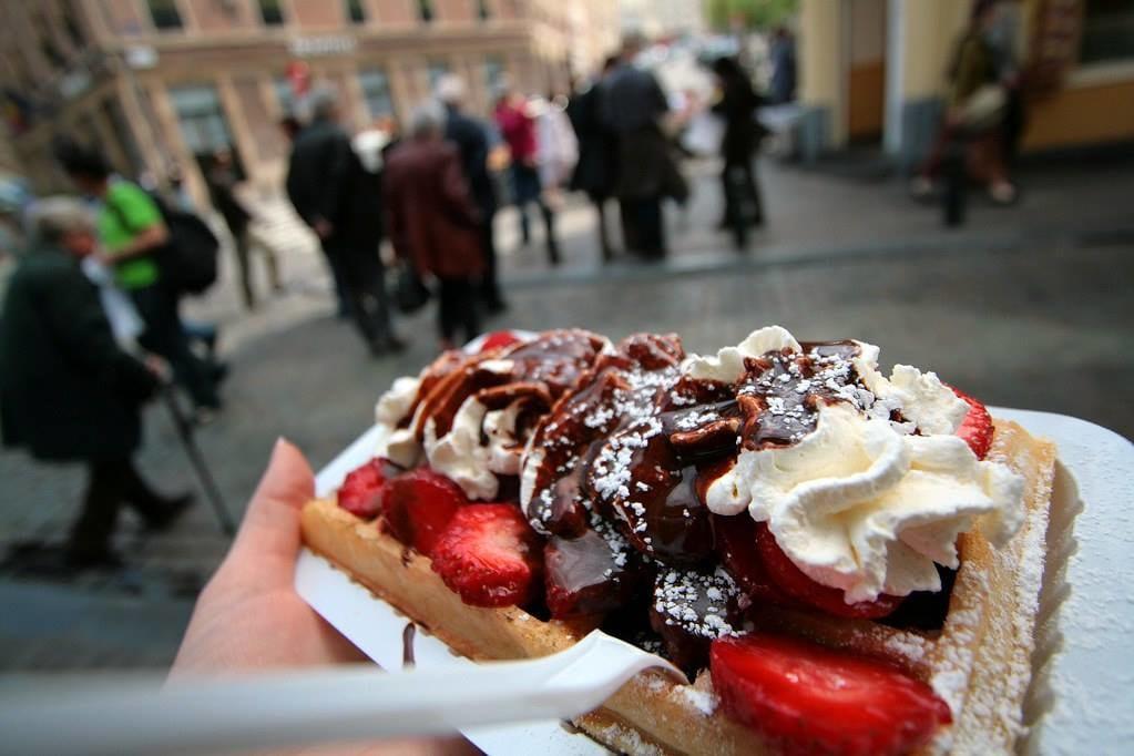 Enjoy a tasty dessert from a local bakery