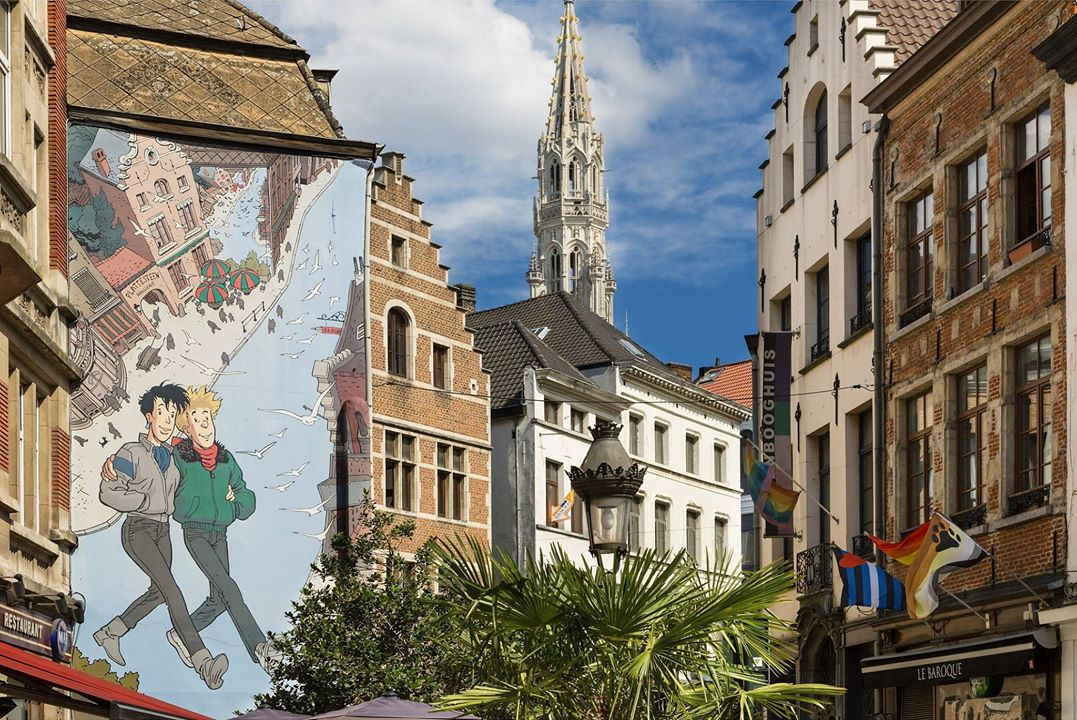 Walk through the streets of Brussels