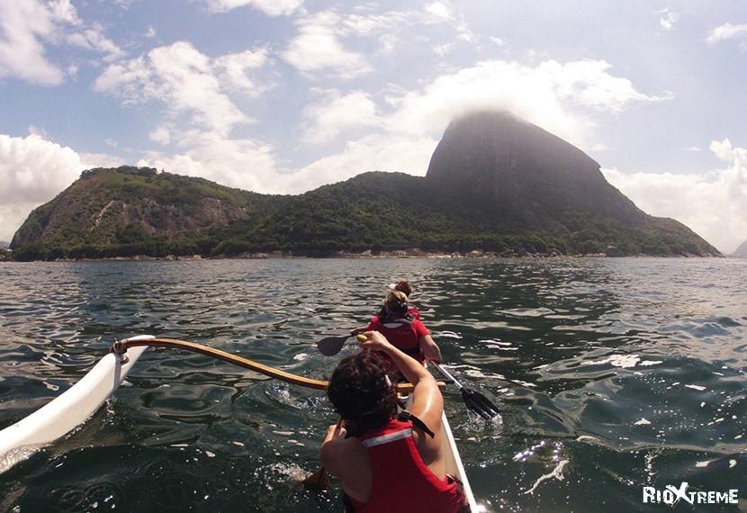 Kayaking in the Atlantic Ocean