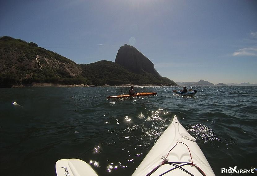Canoeing in the Atlantic Ocean