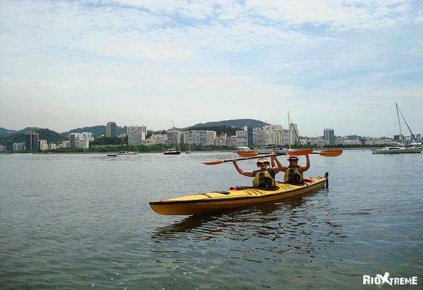 Kayaking around Rio