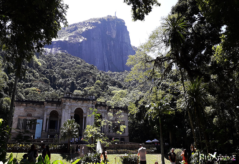 Parque Lage at the foot of the Corcovado