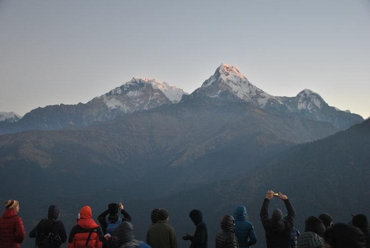 Majestic Annapurna mountain range