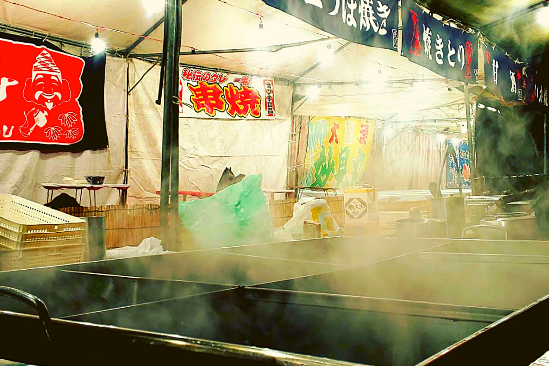 Tasty stall food in Osaka, Japan