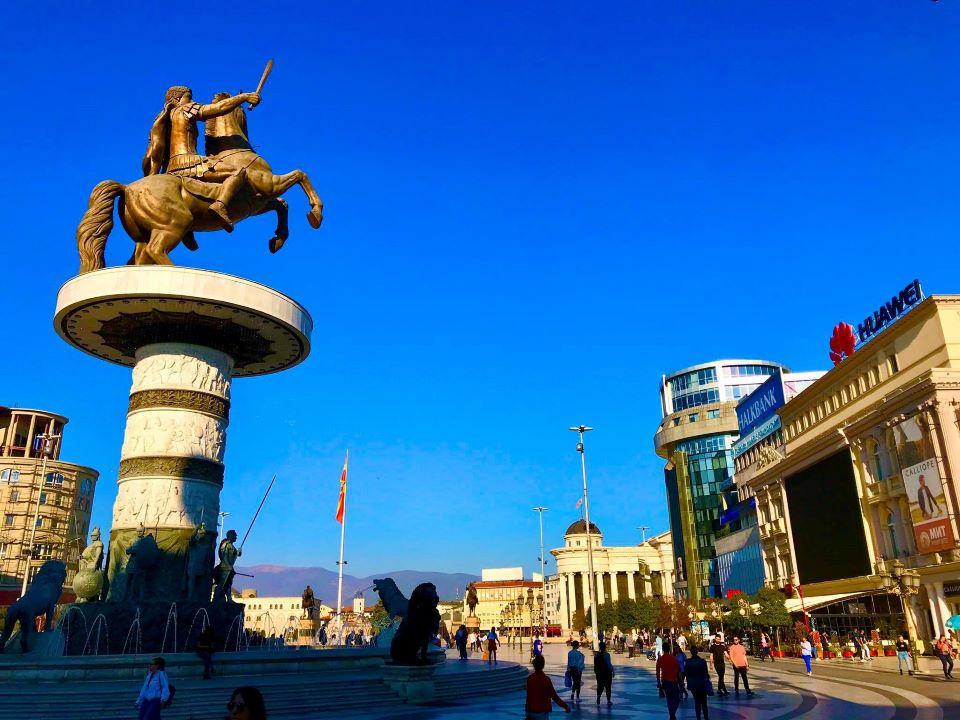 Market Area in Skopje