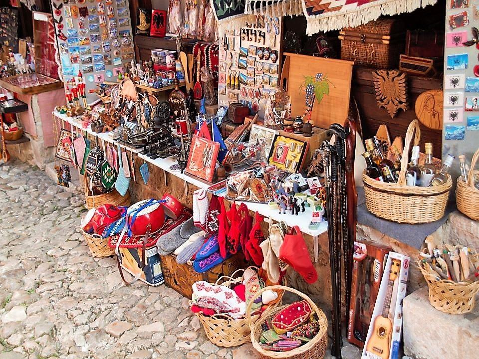 Roadside Stalls in Kruje