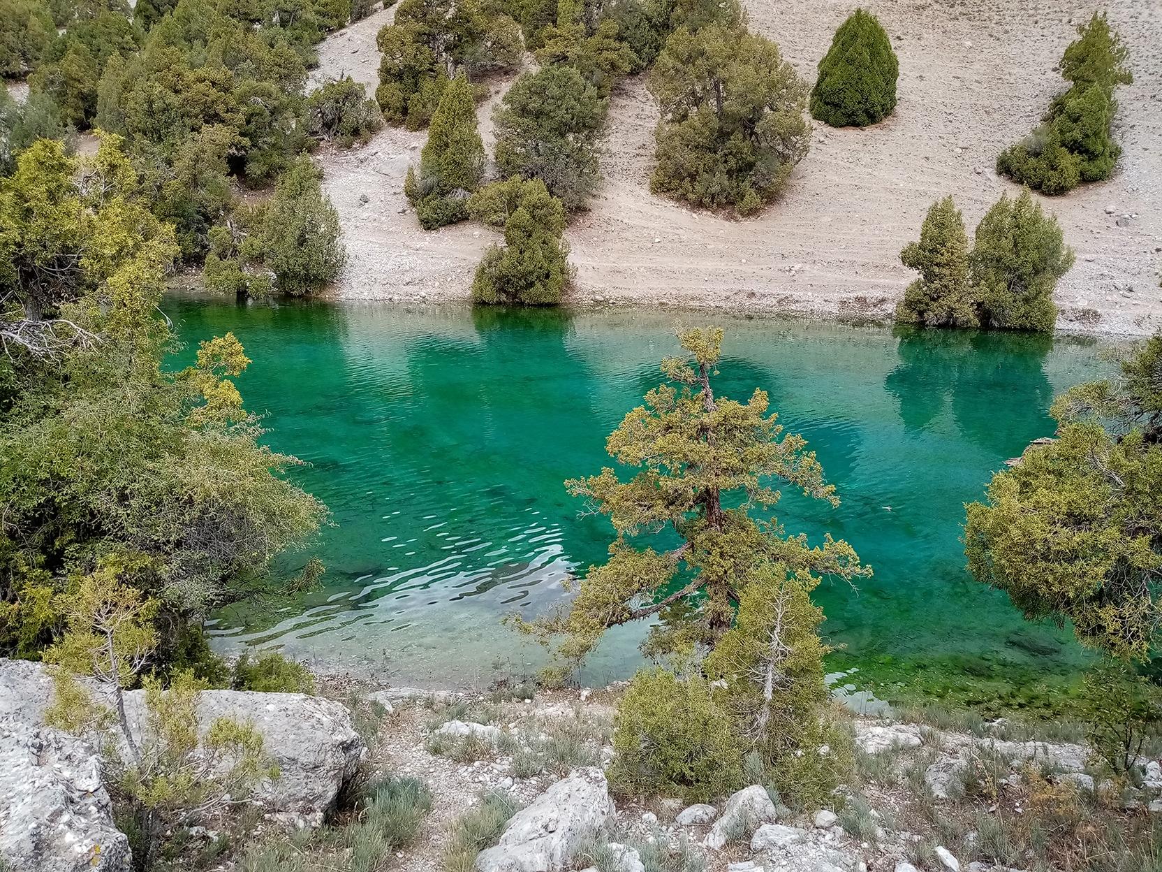 Lake by the Fann Mountains, Tajikistan