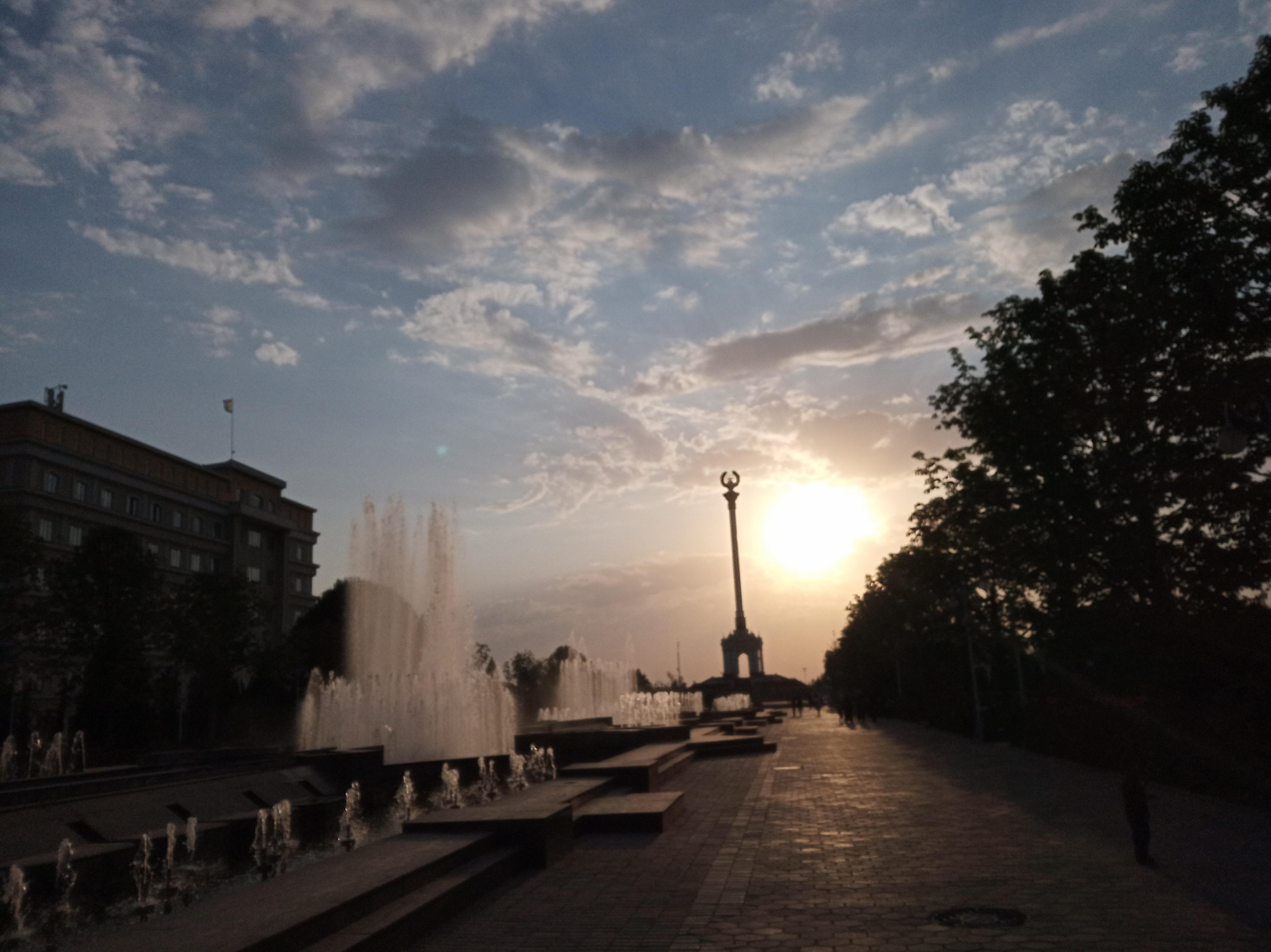 City Streets of Dushanbe, Tajikistan