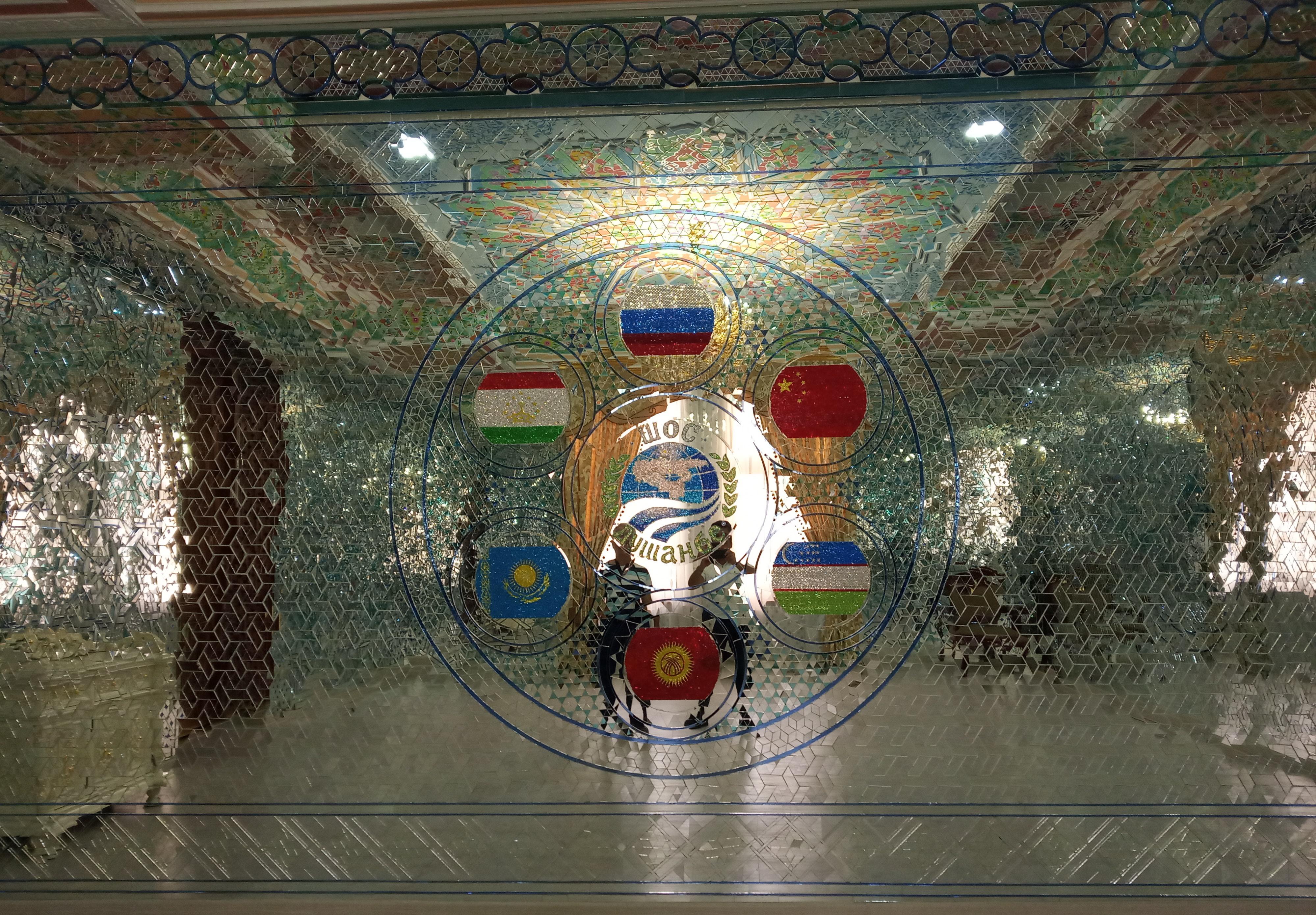 Mosaics at Dushanbe, Tajikistan
