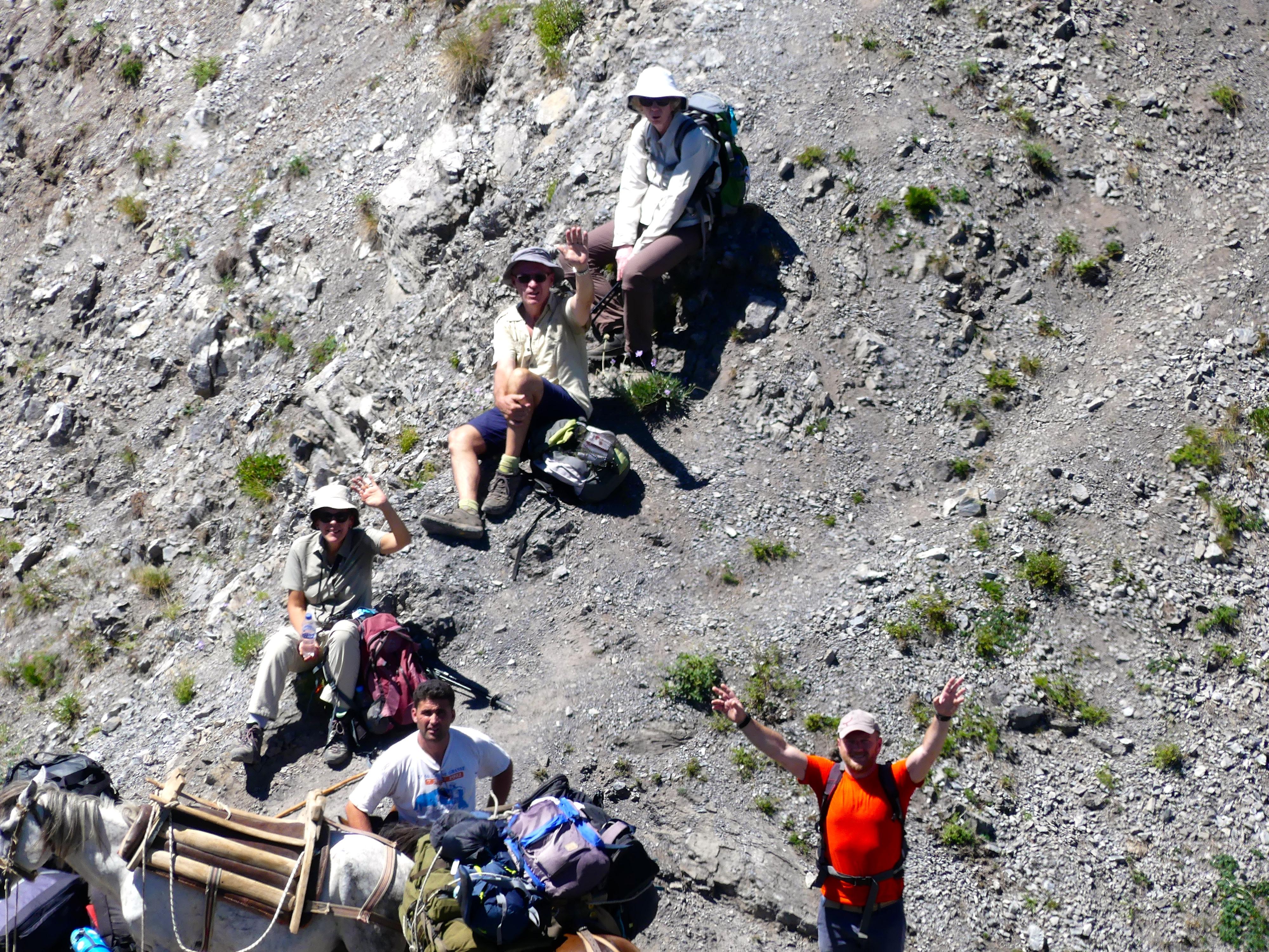Dry Terrains & Break on the Hike