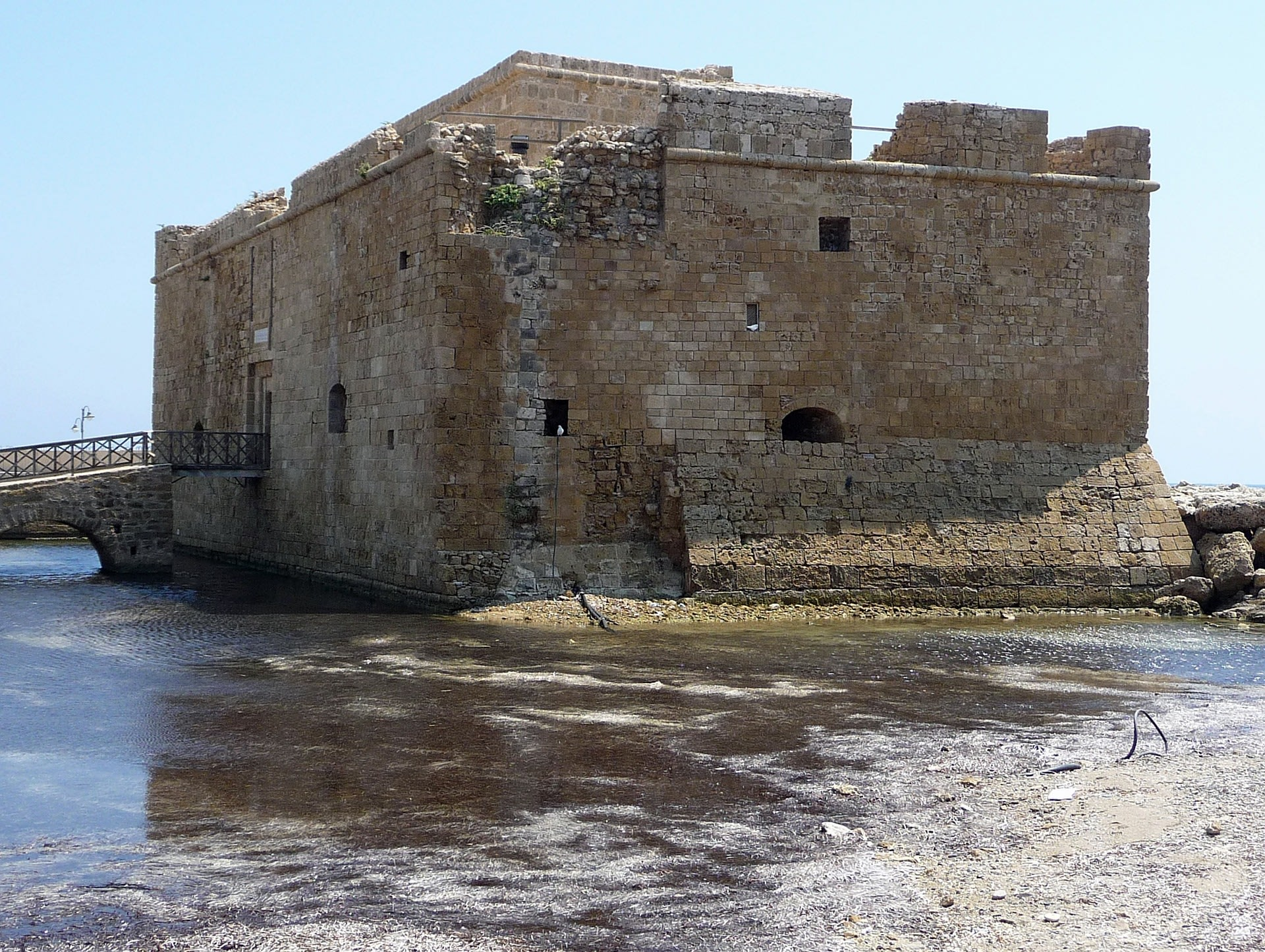 Medieval Castle that was built on Byzantine fort