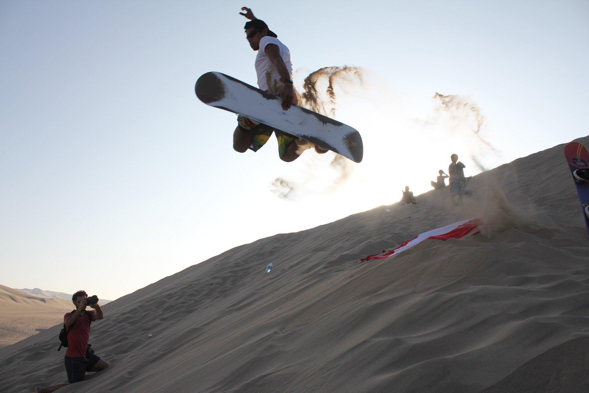 Sandboarding in the Dunes