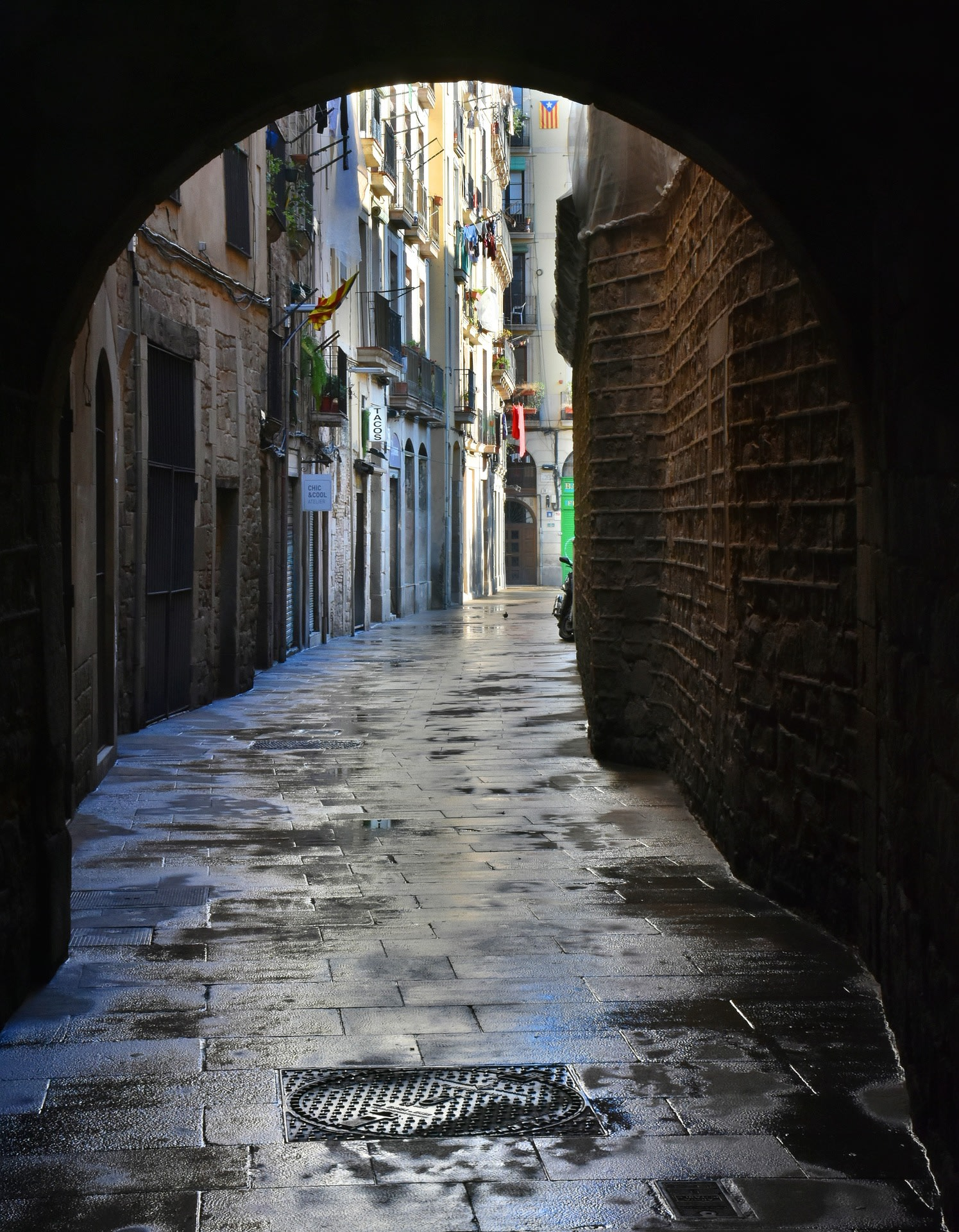 An Old Barcelona Alley