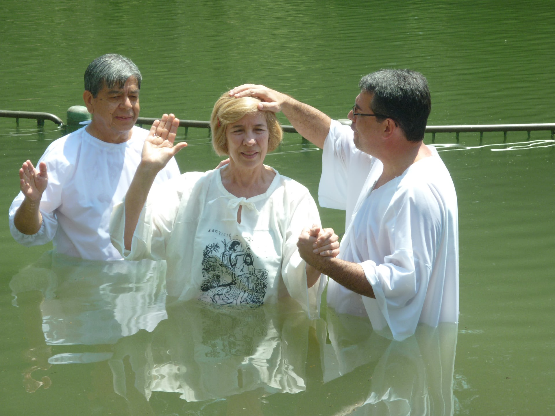People being Baptized in Yardenit