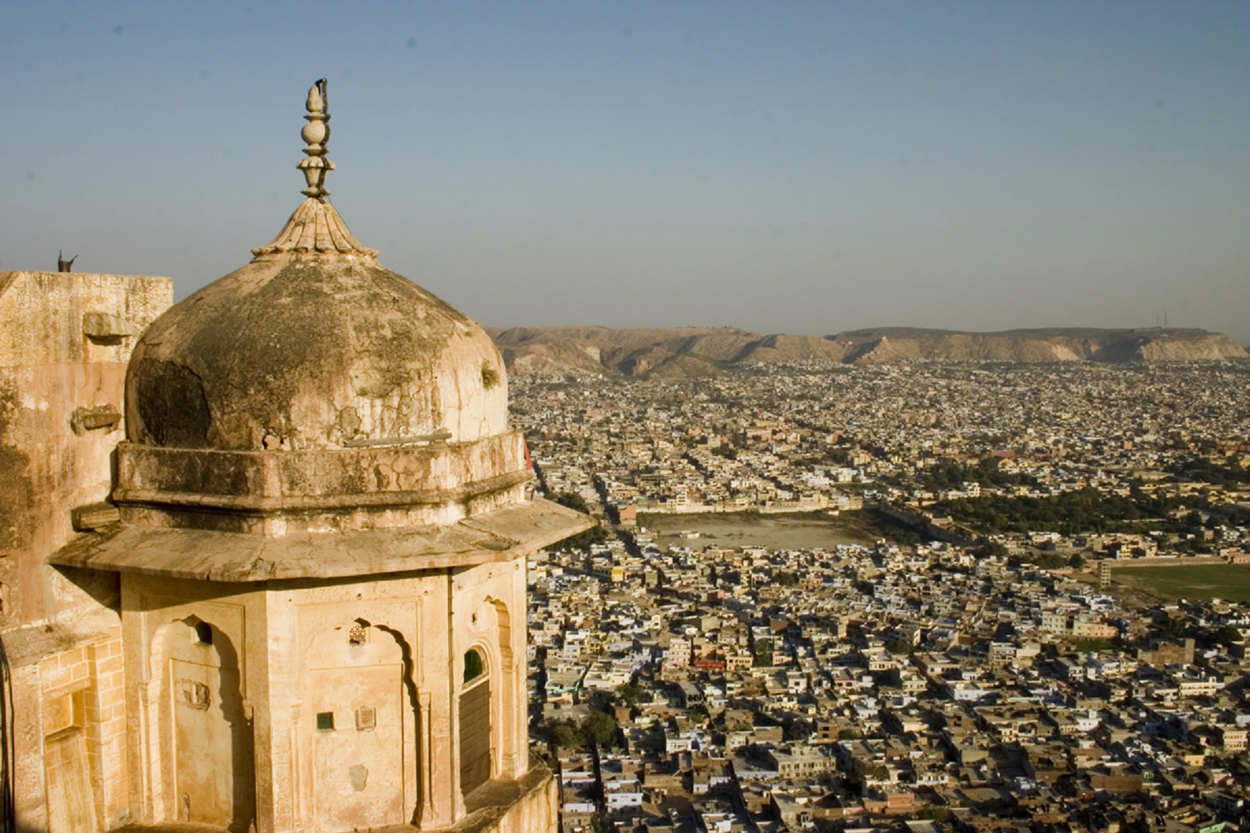 View from Jaipur City from Amer Fort in Jaipur