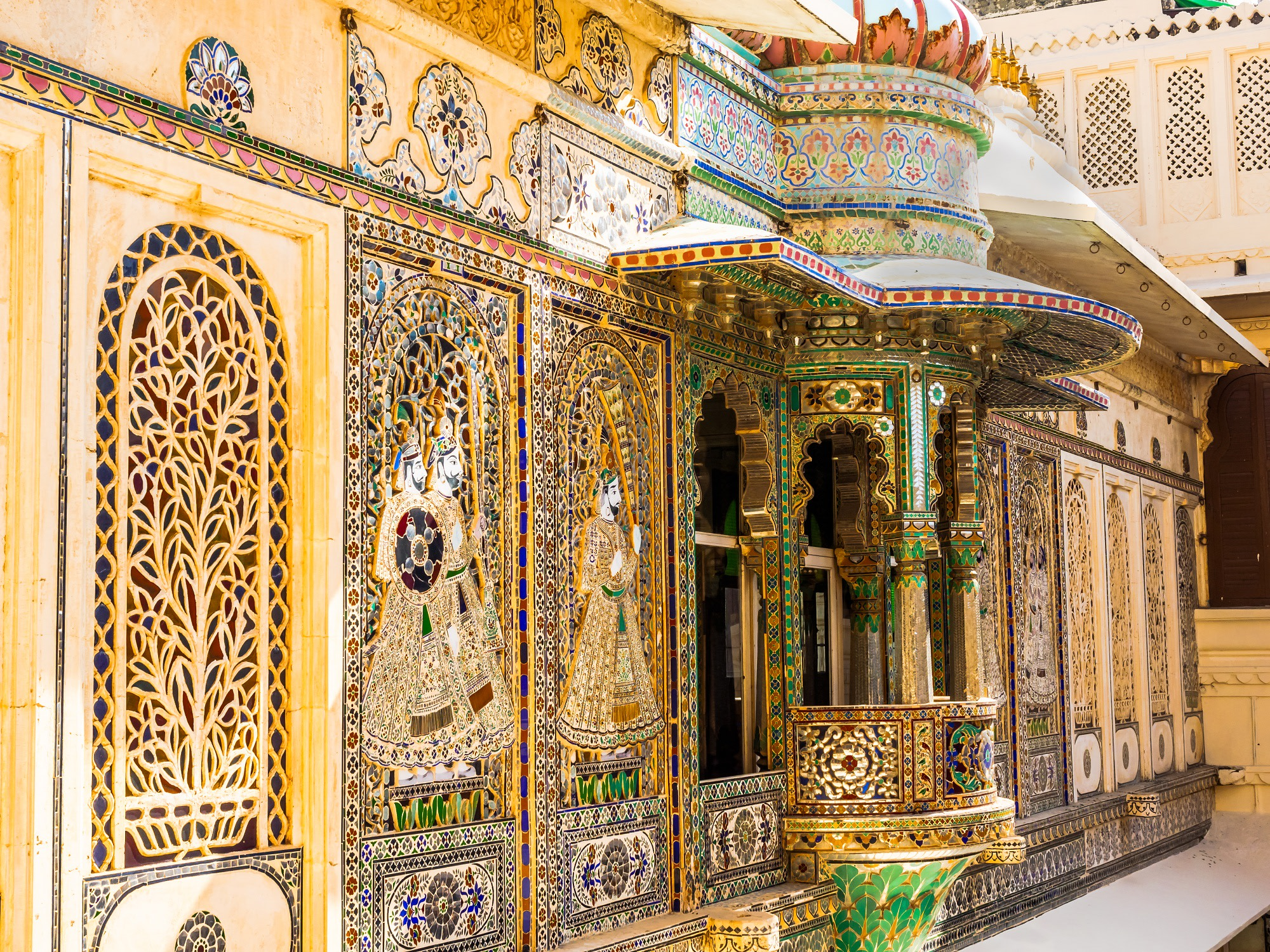 Inside Part of City Palace in Udaipur