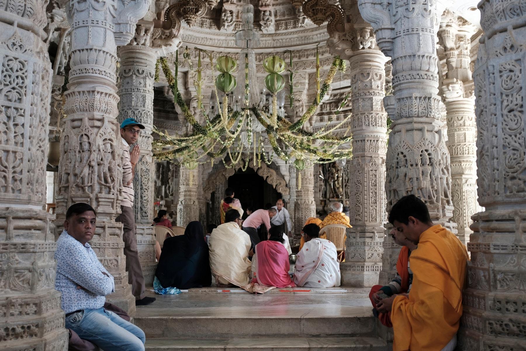 People Prey in Ranakpur Temple