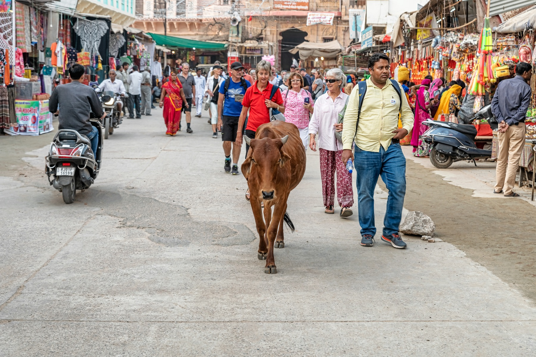 Pushkar Street with our Guide