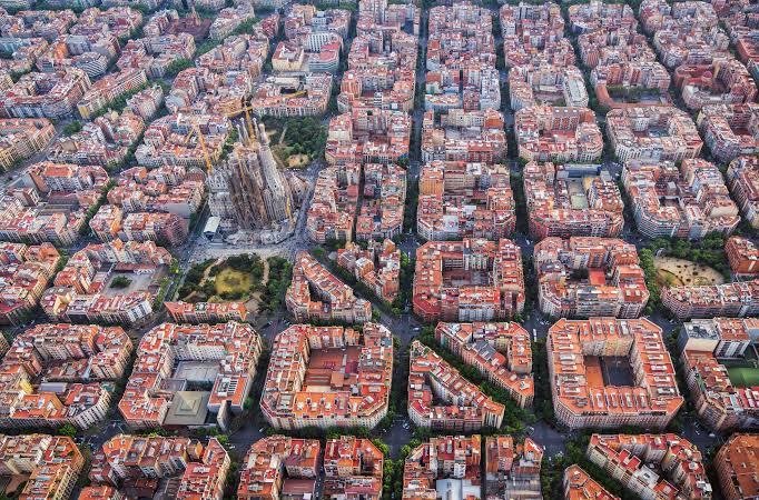 L'Eixample Aerial View