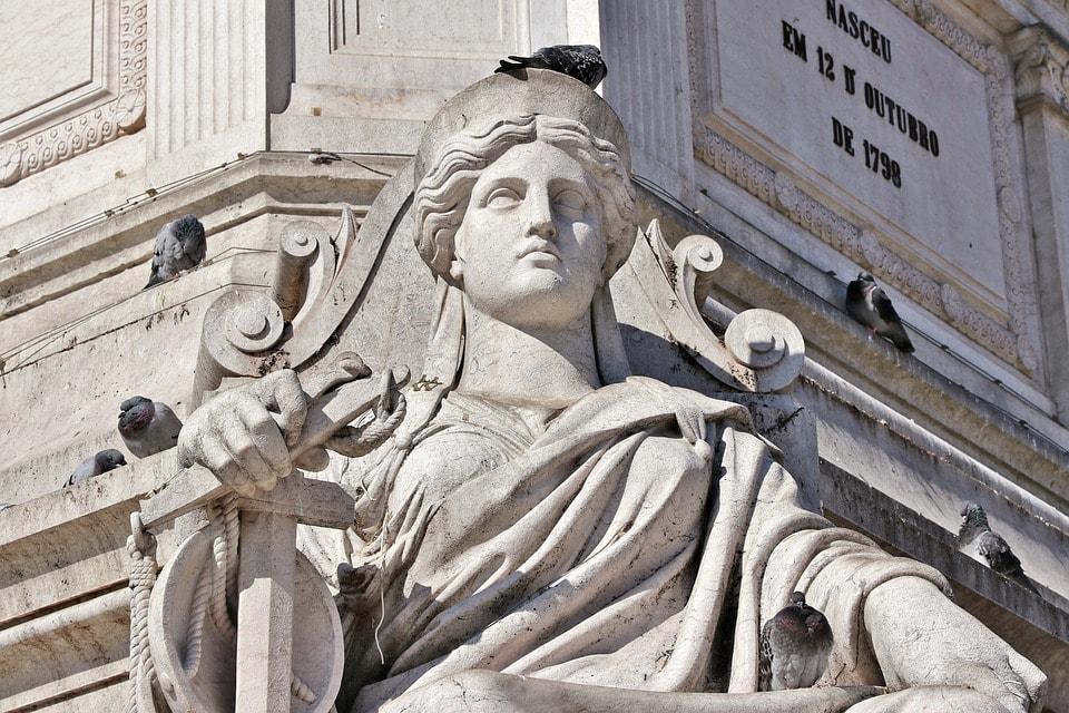 Column of Dom Pedro IV in Rossio Square