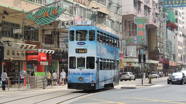 Stroll through central district Hongkong and grab a tram ride