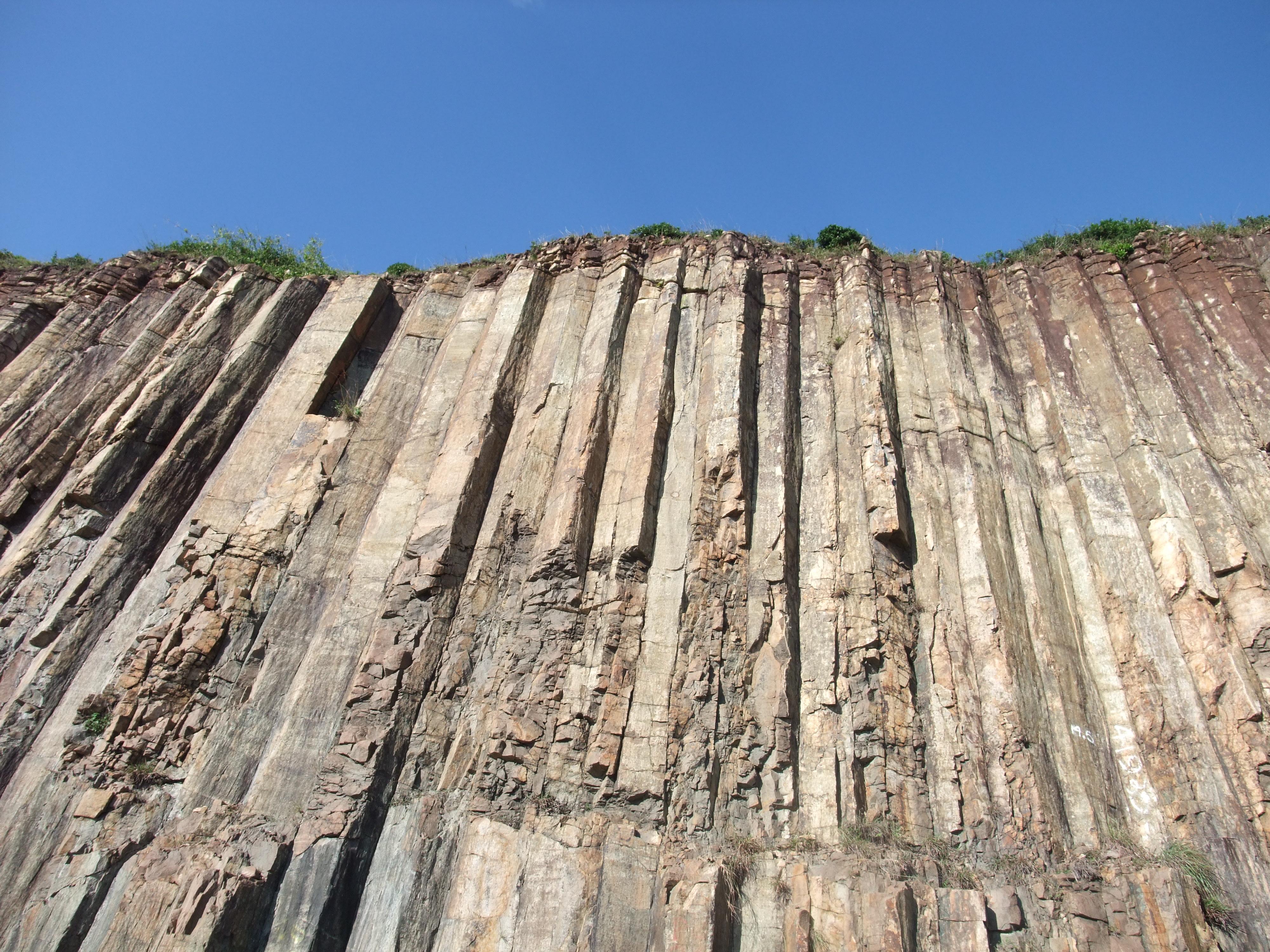 Hexagonal columns at East Dam of High Island Reservoir