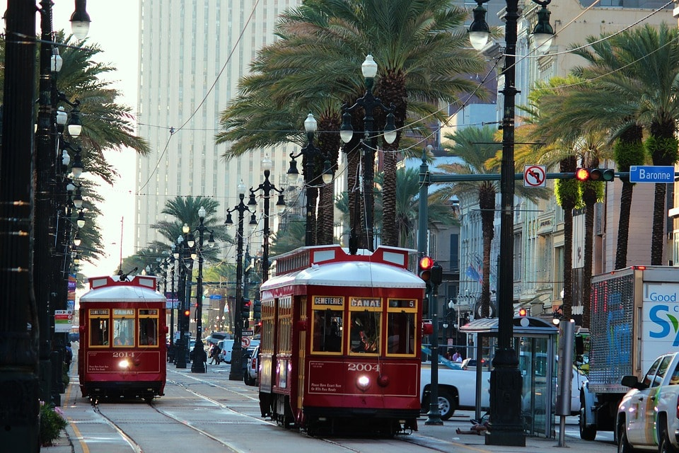 Streetcar In New Orleans, USA