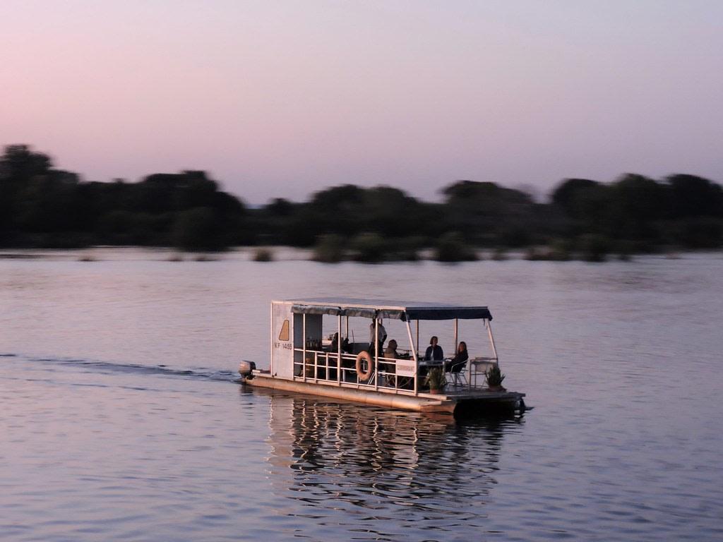 Sunset Boat Cruise on the Zambezi River