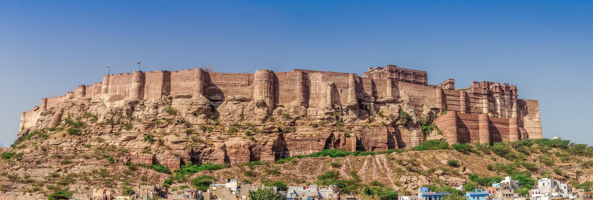 Jodhpur fort view from Jee Ri Haveli Hotel