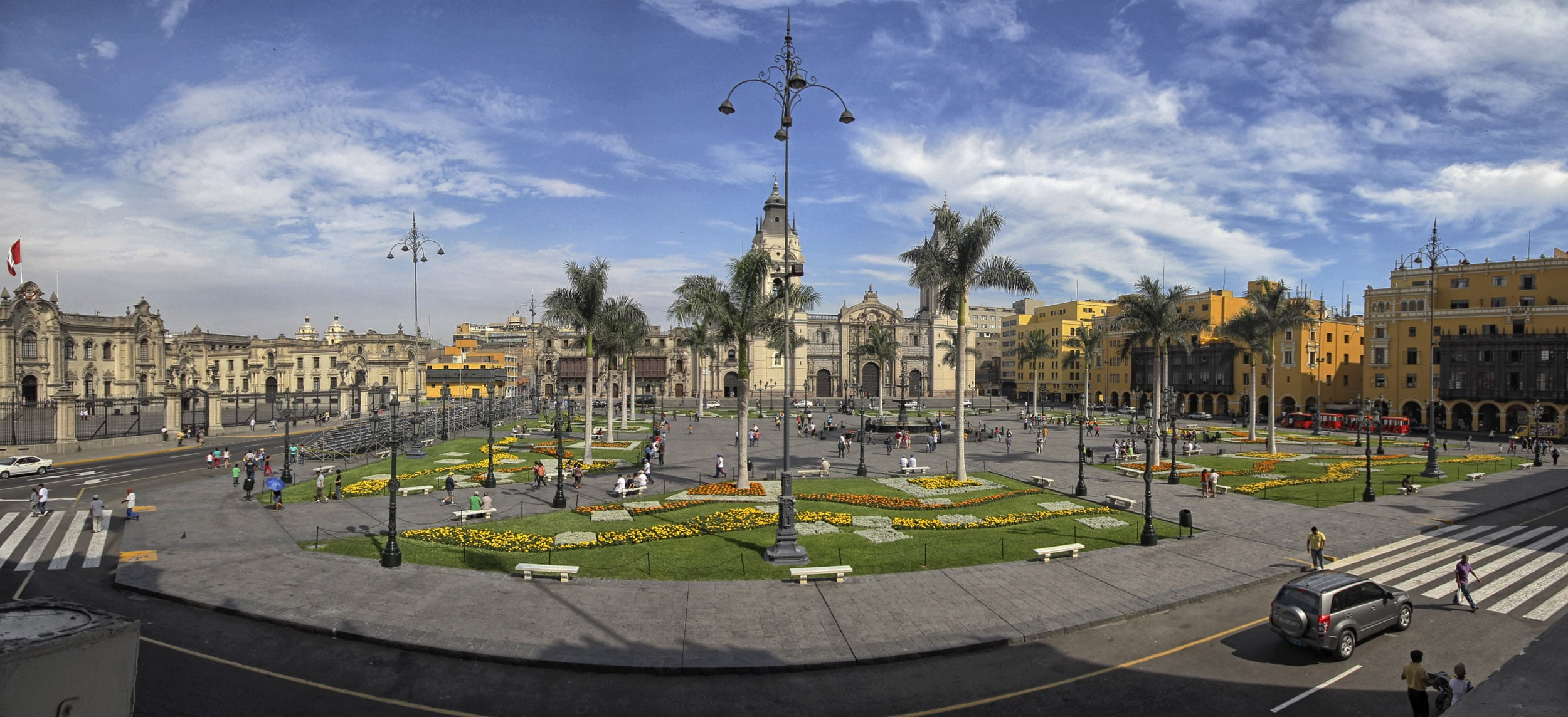 Plaza de Armas, a UNESCO World Heritage Site in Lima