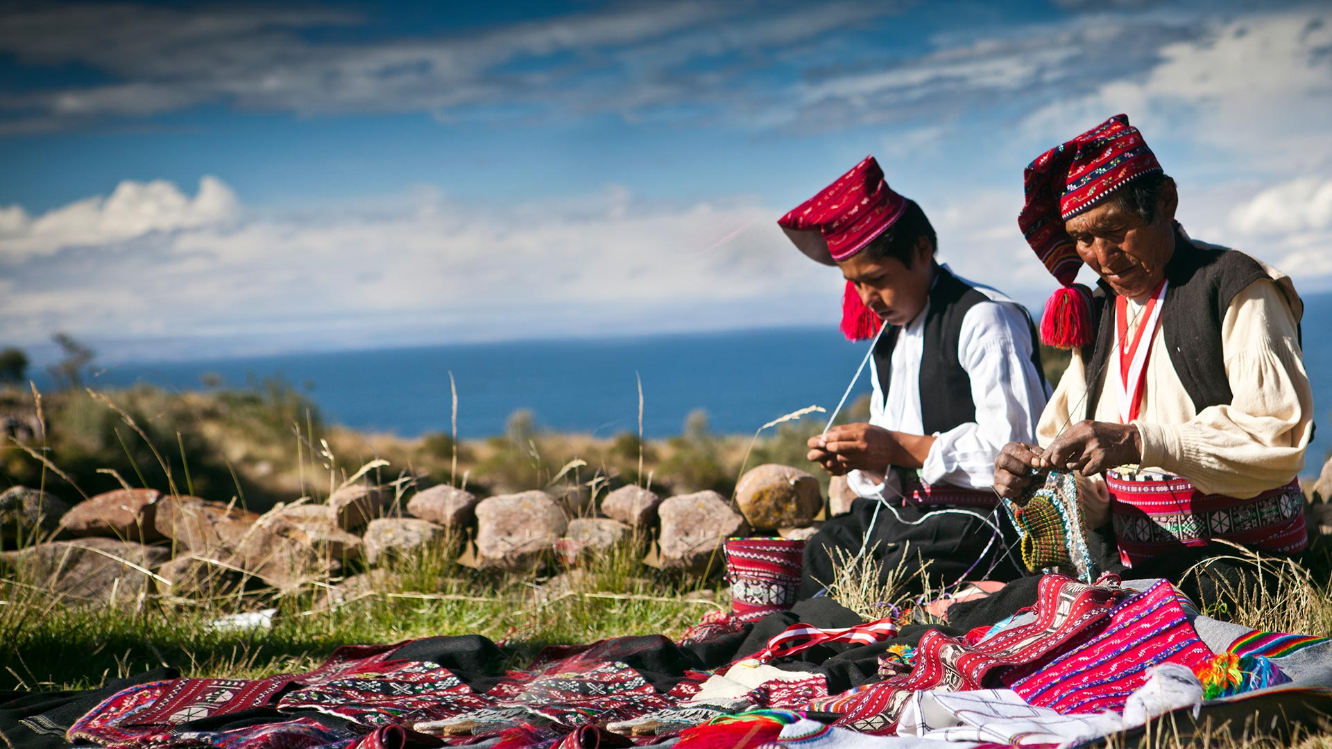 Taquile, floating island of traditional weavers