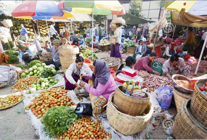 Nyaung U Local Market